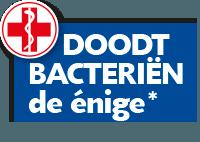 *Blue Wonder Desinfectie Reiniger doodt bacteriën, als enige van de oppervlaktereinigers in de Nederlandse supermarkt in oktober 2018.