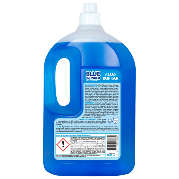 8712038000069 Blue Wonder Allesreiniger Professioneel 3000ml back shop