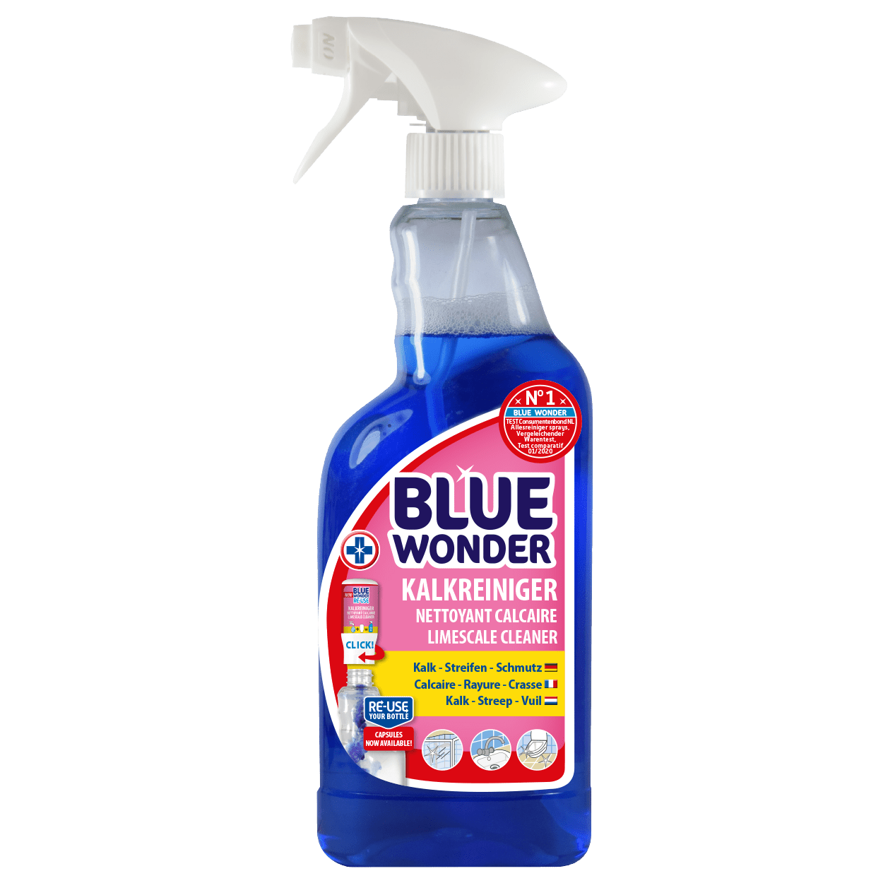 8712038000854_Blue-Wonder-International_Kalkreiniger-Spray_RE-USE_front
