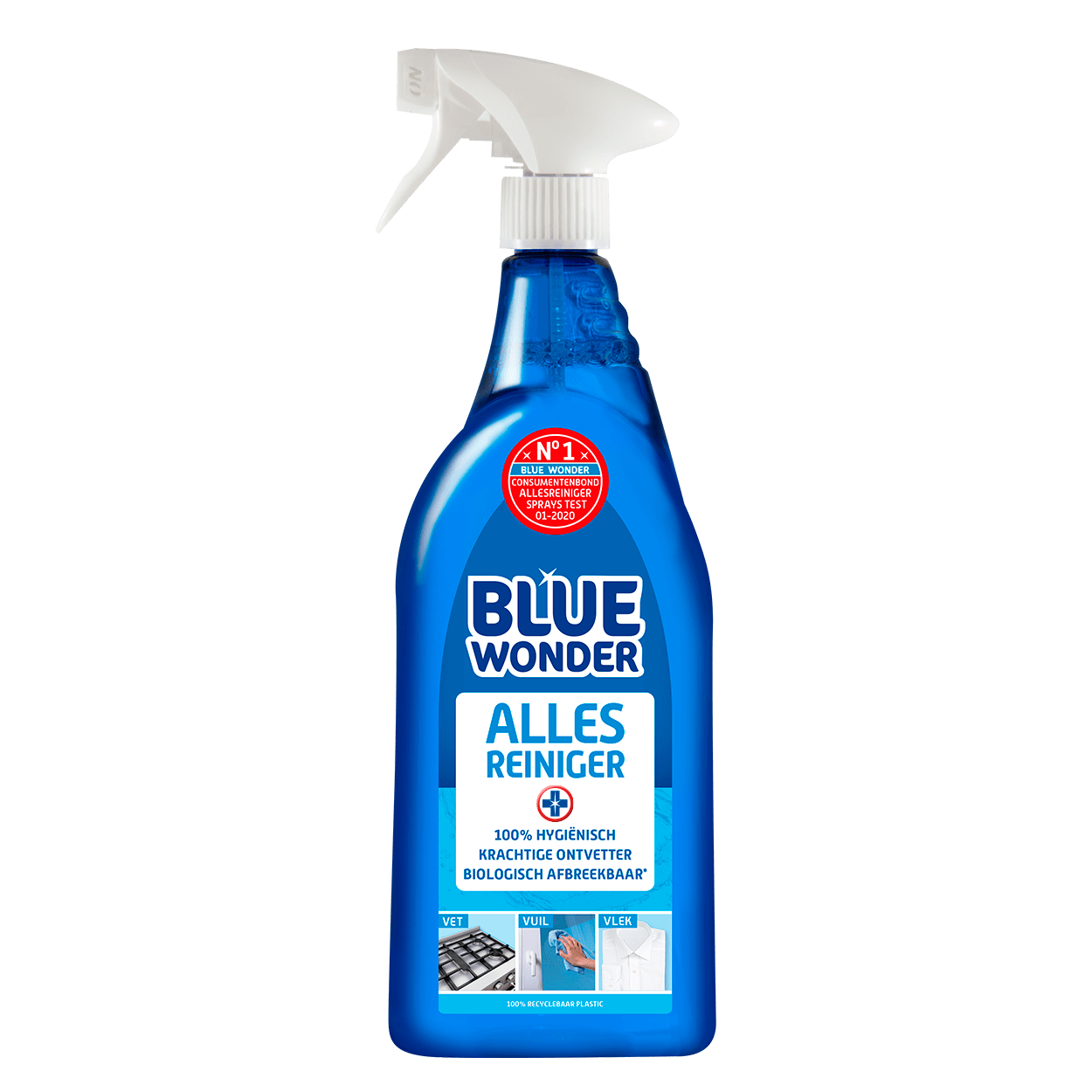 8712038001233 Blue Wonder Alles reiniger 750ml spray 2020 07 01 front 2