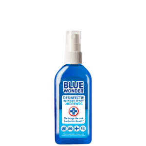 8712038001547 Blue Wonder Desinfectie spray onderweg 100ml front 1 20201026 141128