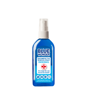 8712038001547 Blue Wonder Desinfectie spray onderweg 100ml front