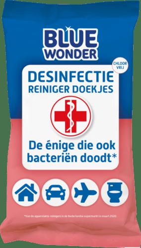 8712038001608 Blue Wonder Desinfectie Reiniger doekjes 20 front 1