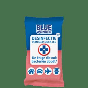 8712038001608 Blue Wonder Desinfectie Reiniger doekjes 20 front 3