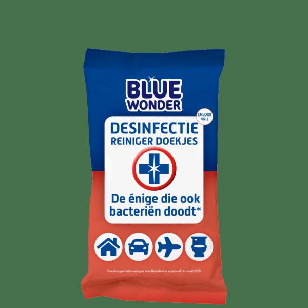 8712038001608 Blue Wonder Desinfectie Reiniger doekjes 20 front 5