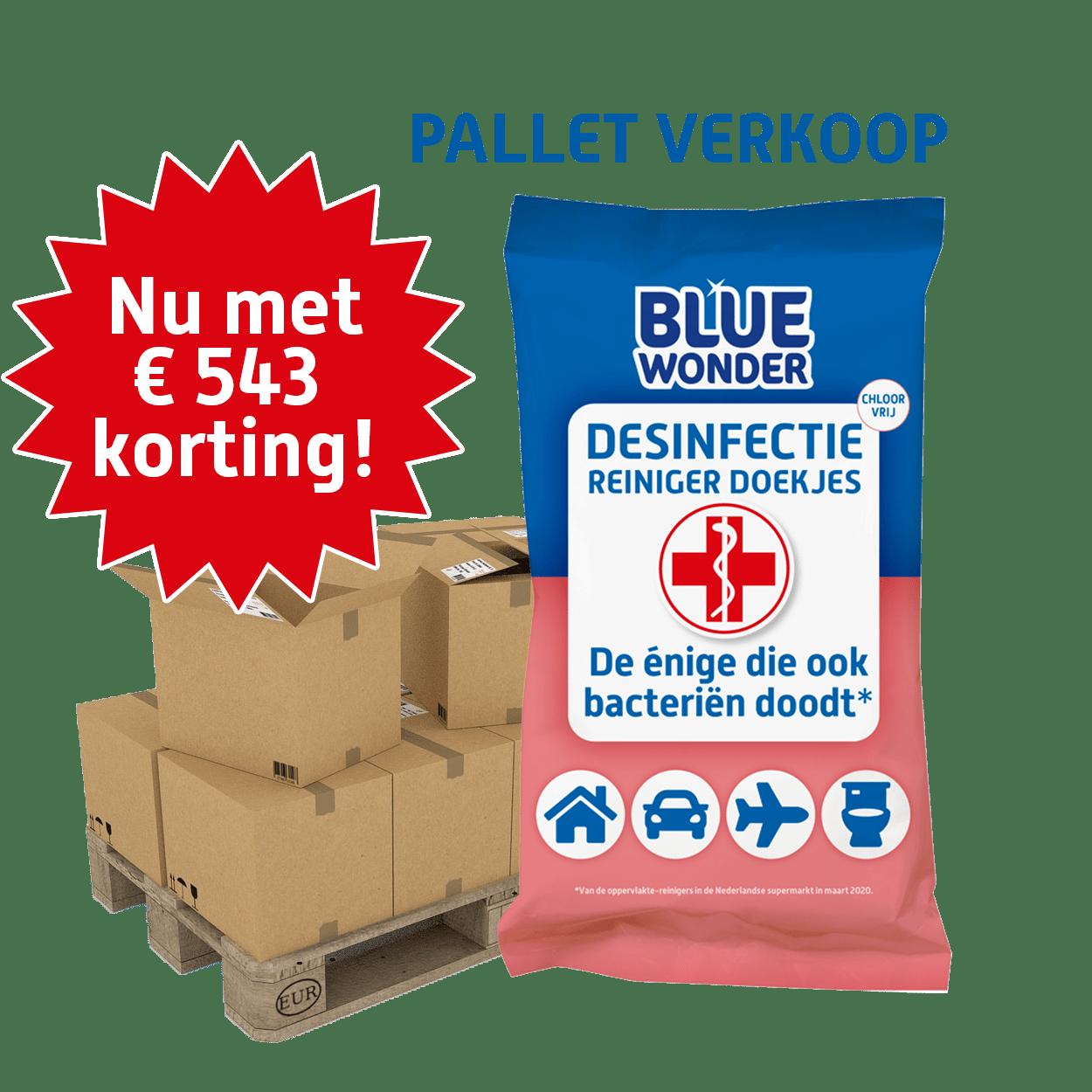 8712038001608 Blue Wonder Desinfectie reiniger doekjes 20stuk PALLET korting 3
