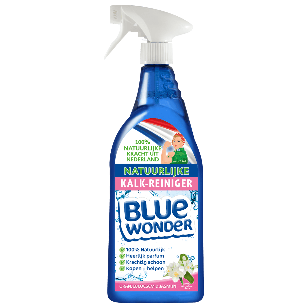8712038001684_Blue Wonder Kalk-reiniger_Oranjebloesem-Jasmijn_750ml_spray_042018_voor