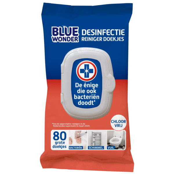 8712038001707 Blue Wonder Desinfectie Reiniger doekjes 80 front 7