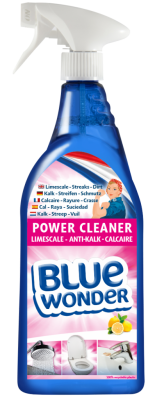 8712038001813_Blue-Wonder_Power-Cleaner-Limescale_750ml_spray_EN-DU-FR-ES-NL_front