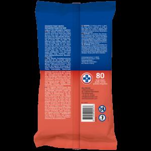 8712038002537 Blue Wonder Disinfectant wipes Desinfektionstucher Lingettes desinfectantes 80wipes back