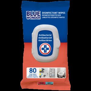 8712038002537 Blue Wonder Disinfectant wipes Desinfektionstucher Lingettes desinfectantes 80wipes front