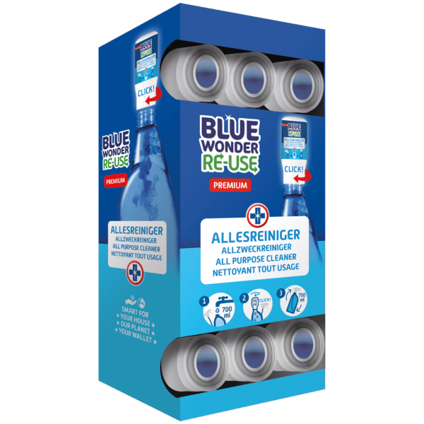 8712038002759 Blue Wonder RE USE dispenserdoos Allesreiniger