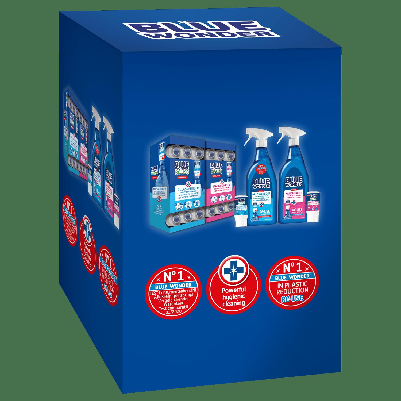 Dispenserbox RE-USE capsules All purpose cleaner / Limescale cleaner RE-USE capsules All purpose cleaner / Limescale cleaner Spray bottles RE-USE All purpose cleaner / Limescale cleaner