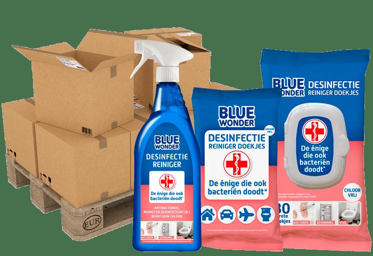 Blue Wonder Desinfectie reiniger PALLETVERKOOP compact 746