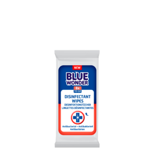 Blue Wonder Disinfectant wipes Desinfektionstucher Lingettes desinfectantes 1x8 front