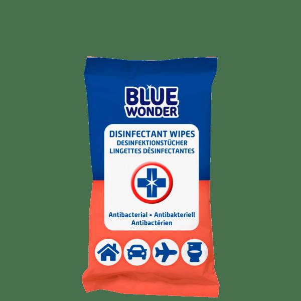 Blue Wonder Disinfectant wipes Desinfektionstucher Lingettes desinfectantes 20 front