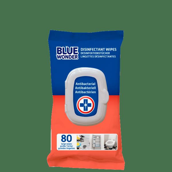 Blue Wonder Disinfectant wipes Desinfektionstucher Lingettes desinfectantes 80 front