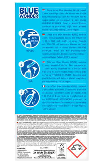 Blue Wonder RE USE Multi Hygiene boxstick back
