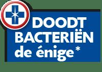 *Blue Wonder Desinfectie Reiniger doodt bacteriën, als enige van de oppervlaktereinigers in de Nederlandse supermarkt in maart 2020.