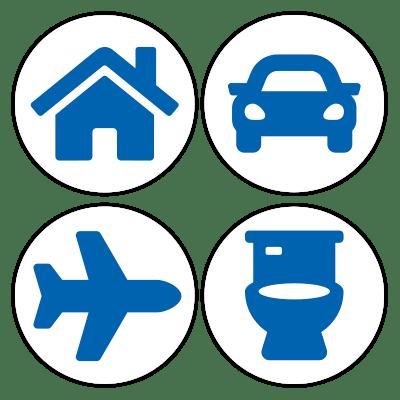 Handig voor thuis, onderweg en op het toilet