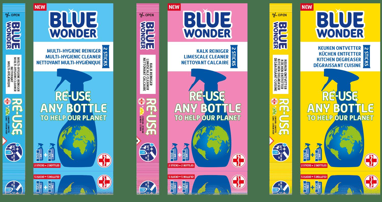 blue wonder doosjes sticks