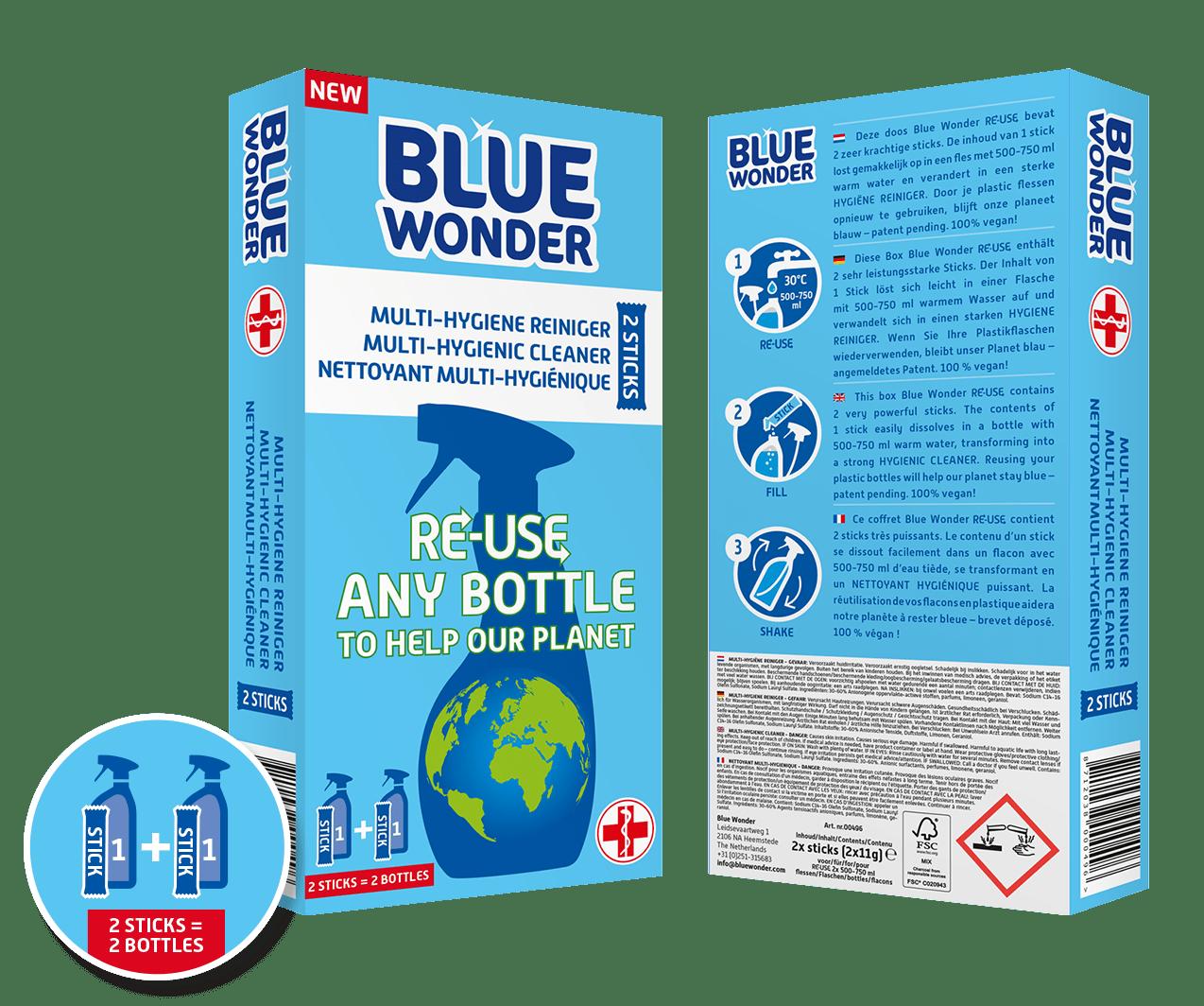blue wonder re use box front back multi hygiene