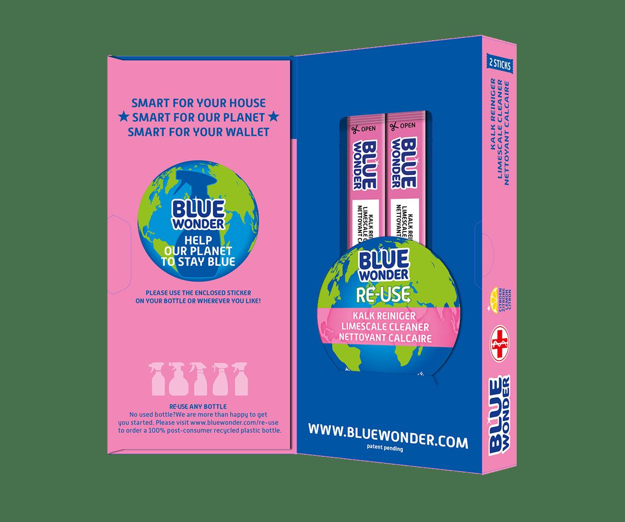 blue wonder re use box open1 kalk limescale calcaire