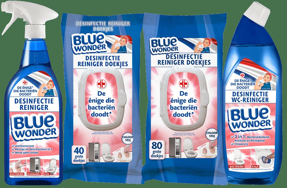 Start van de Blue Wonder Desinfectie productlijn
