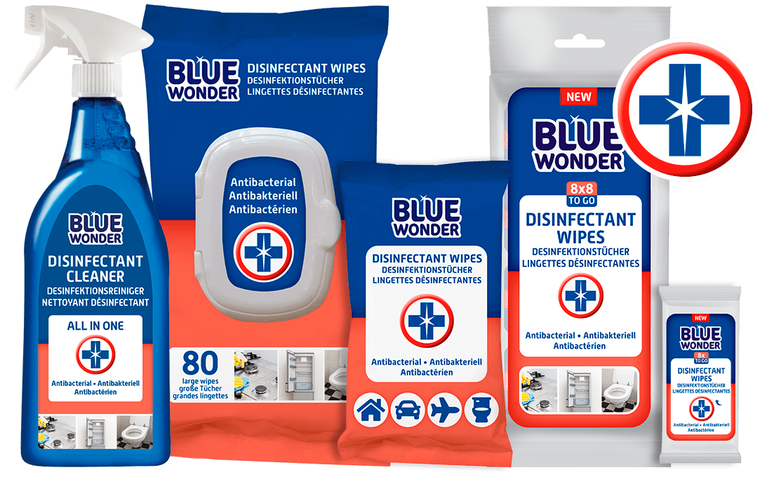 blue wonder productrange Disinfectant Desinketion Desinfectant