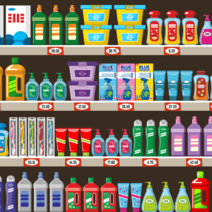 Space for 4x more products on the shelf, less frequent supplies necessary!